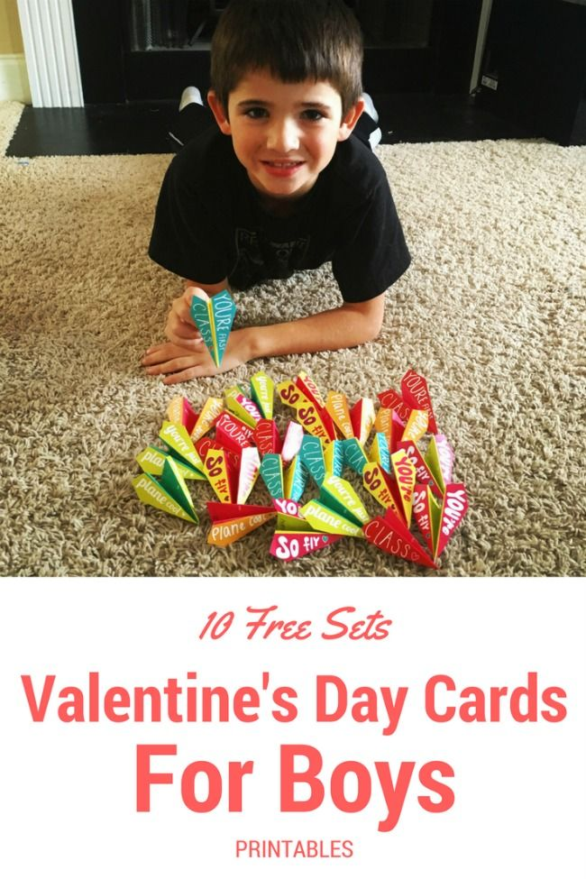 Valentine's Day Cards for boys. Free printable Valentine's Cards that boys will like!