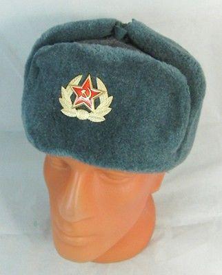 6c5fa8c417d4f  Russian soviet army hat ussr  badge real military fur  soldiers ushanka  headwear