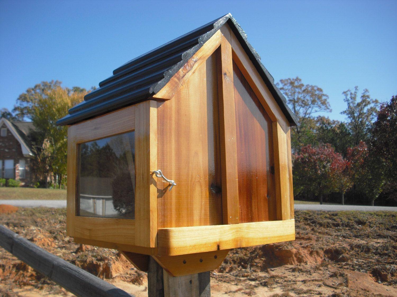 Little house on a stick neighborhood book box library