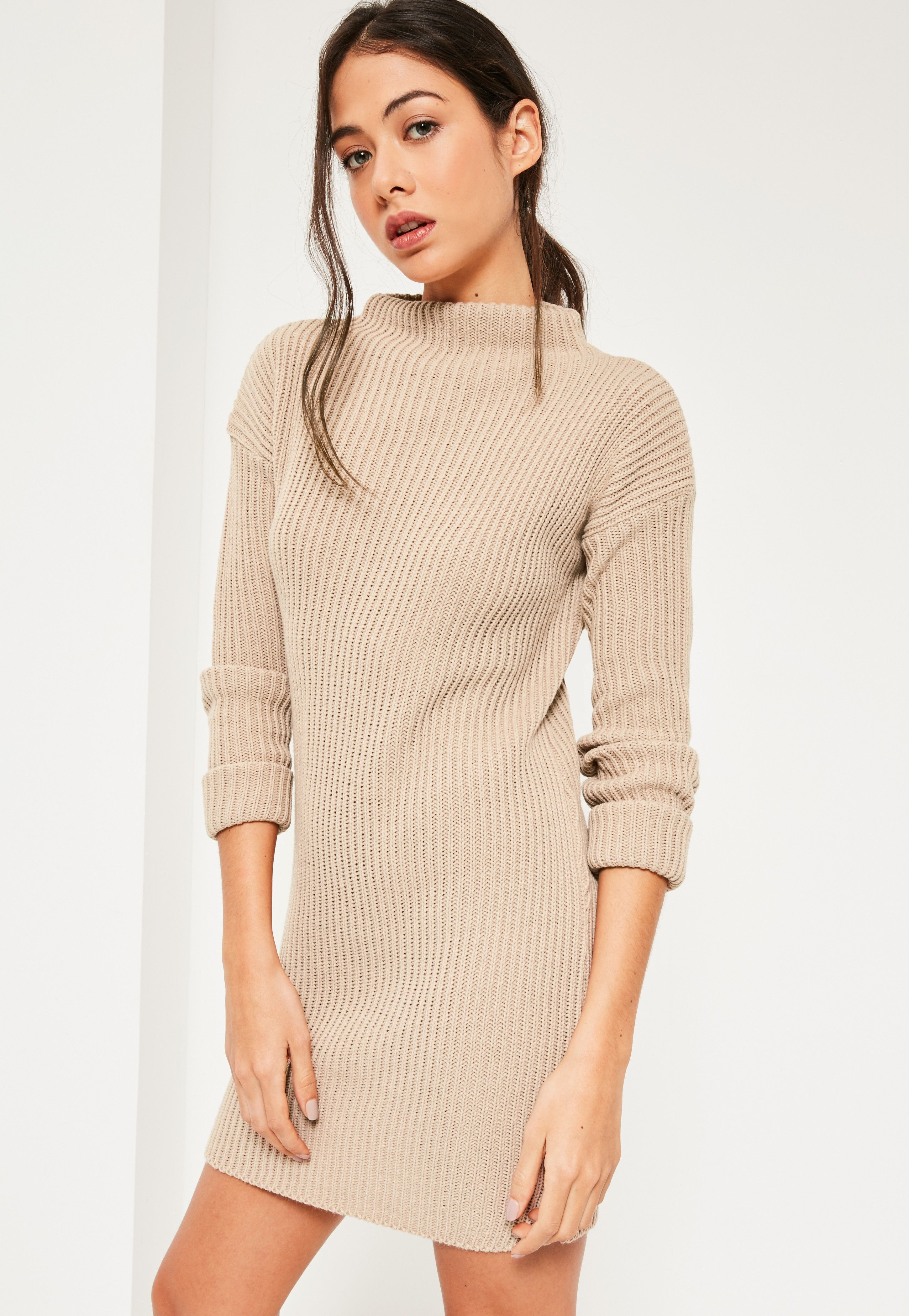 loving this high neck knitted mini dress  9cae63e7e