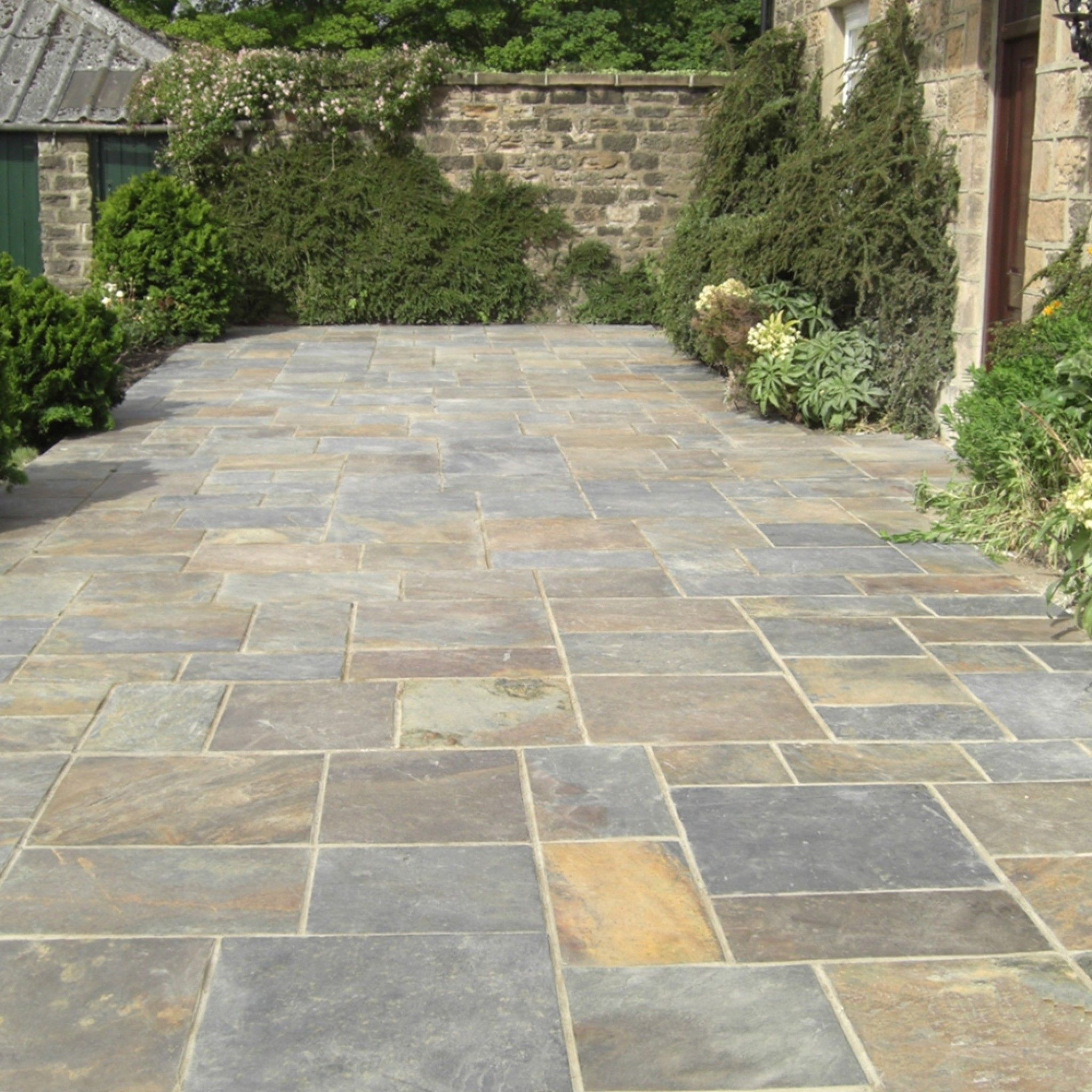 vijaya gold natural slate patio paving
