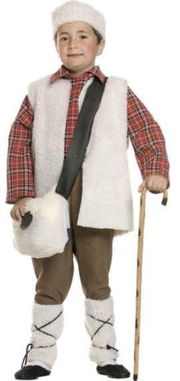Kids shepherdess costume disfraz de pastor infantil - Disfraces infantiles navidad ...