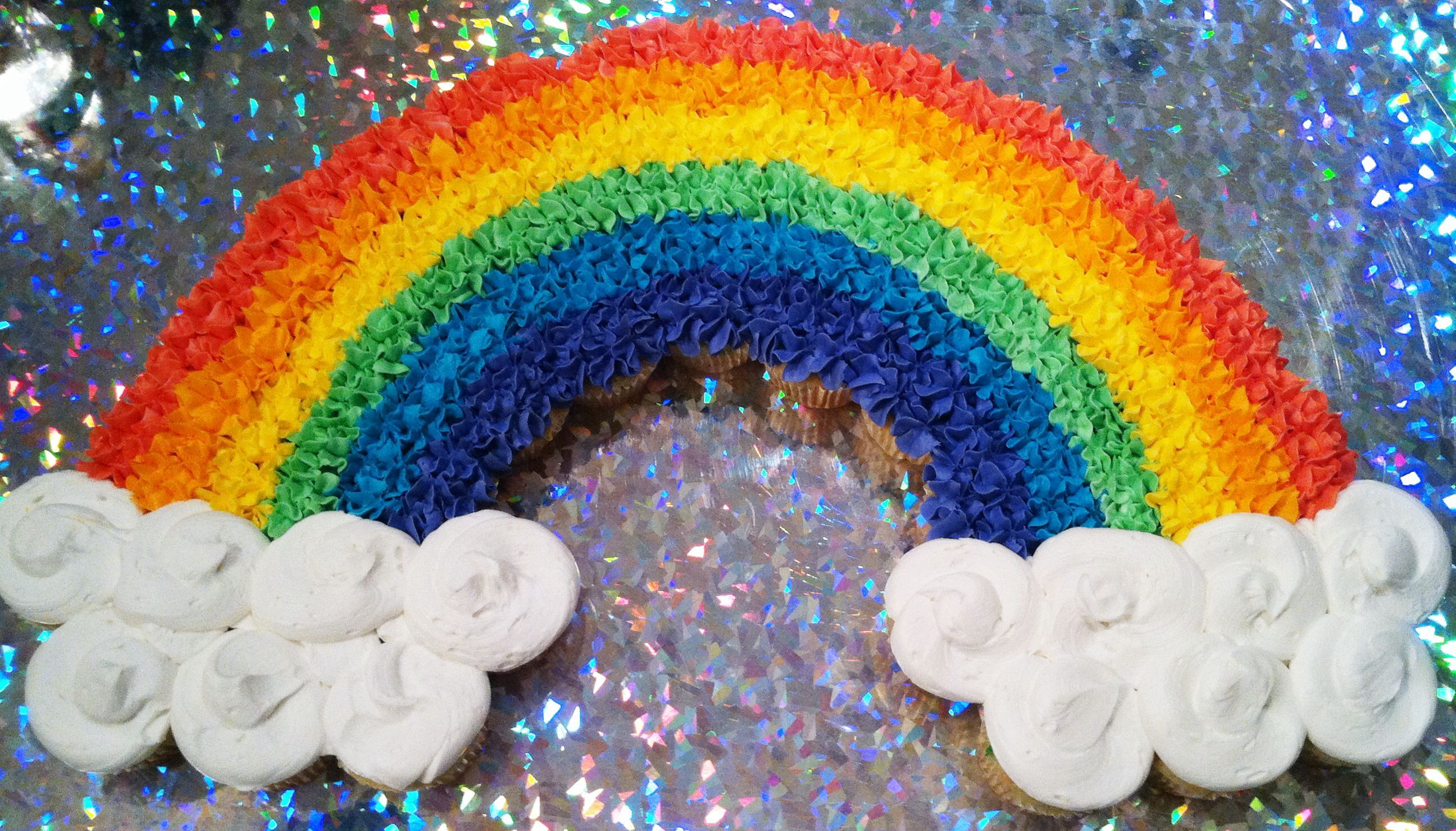 Rainbow Pull Apart Cupcake Cake Christines Cake Creations by