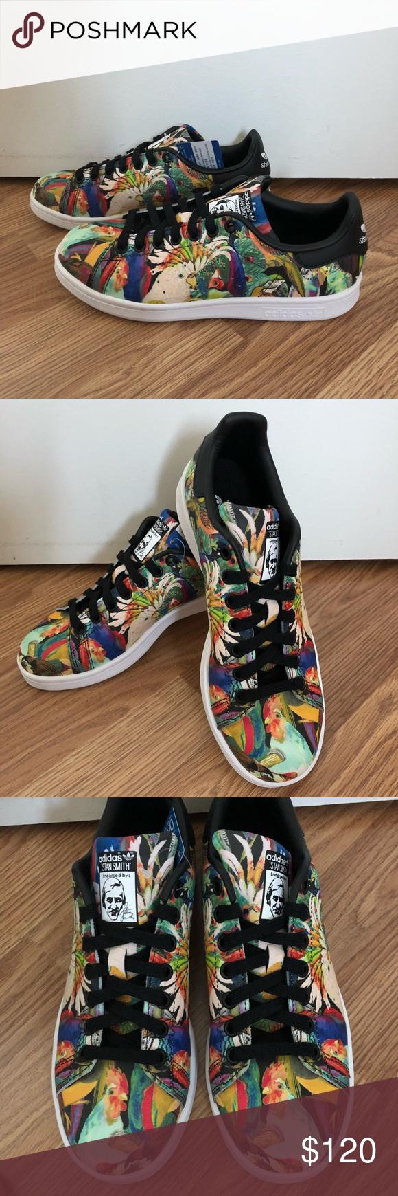 NEW STAN Adidas STAN NEW SMITH Tropical Birds Sneakers NWT My Posh Picks 436470