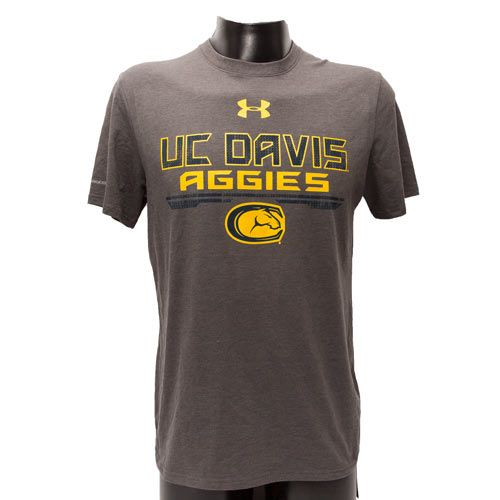Uc Davis Men S Tee Charcoal Under Armour Mens Tees Mens Tops Mens Outfits