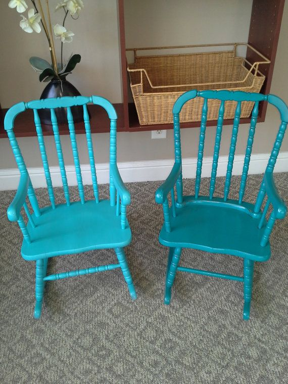 Antique Vintage Jenny Lind Rocking Chairs By