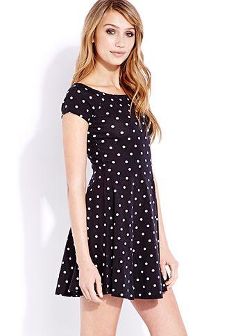 Retro Dots Skater Dress  7aa780015