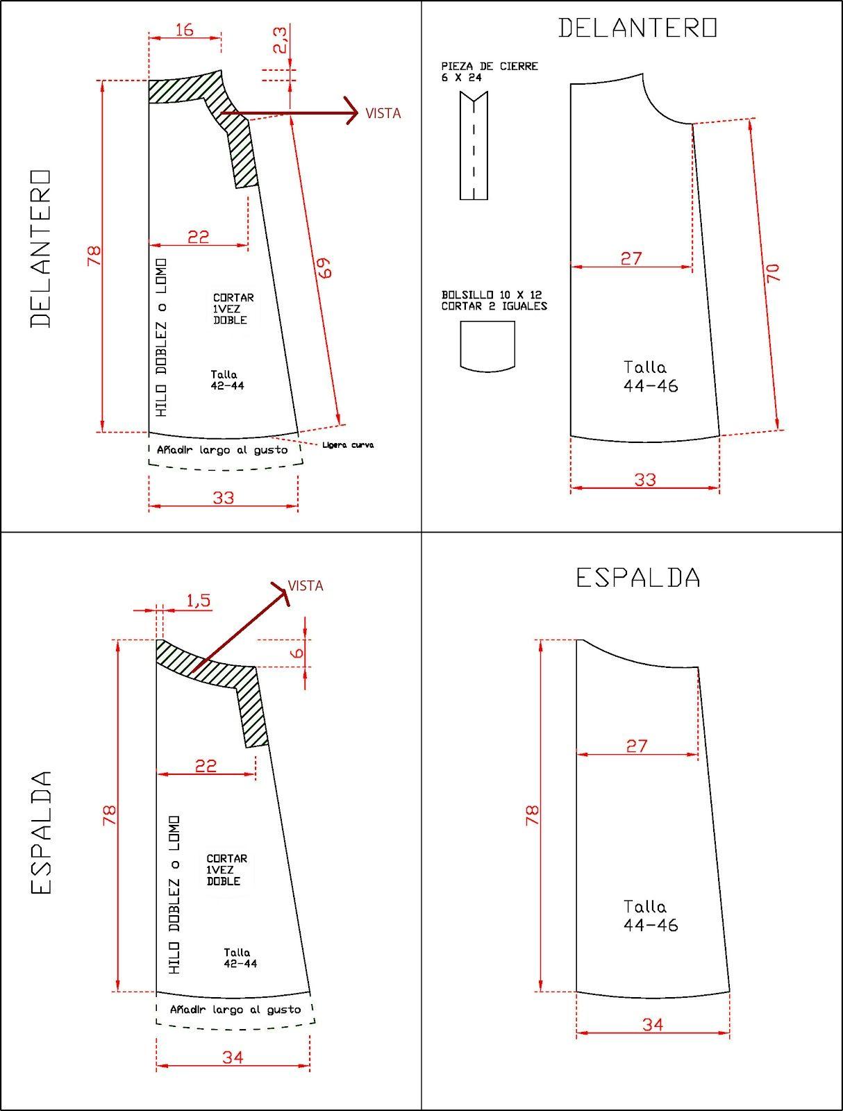 delantal patron | Delantales | Pinterest | Costura, Patrones y Cosas