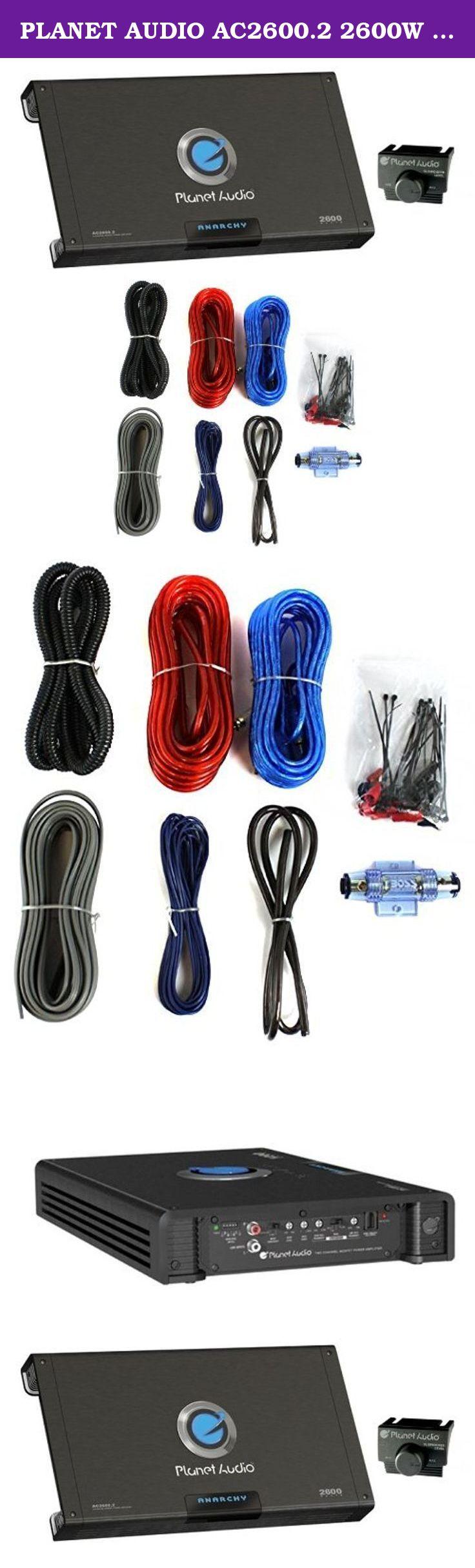 Planet Audio Ac26002 2600w 2 Channel Car Amplifier 8 Wiring Ga