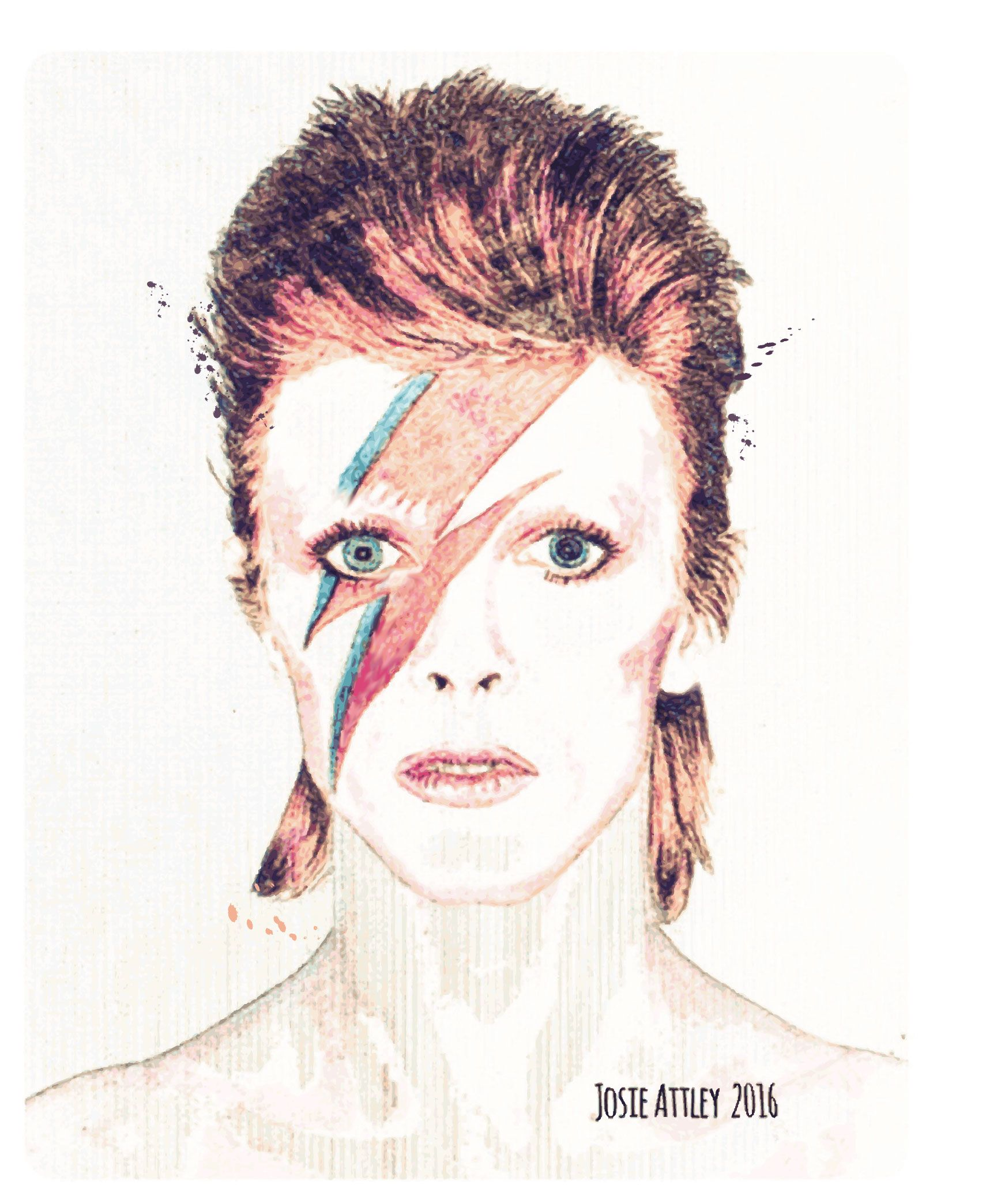 R.I.P David Bowie 1947-2016  Ashes to ashes  | One |  By Josie Attley 2016