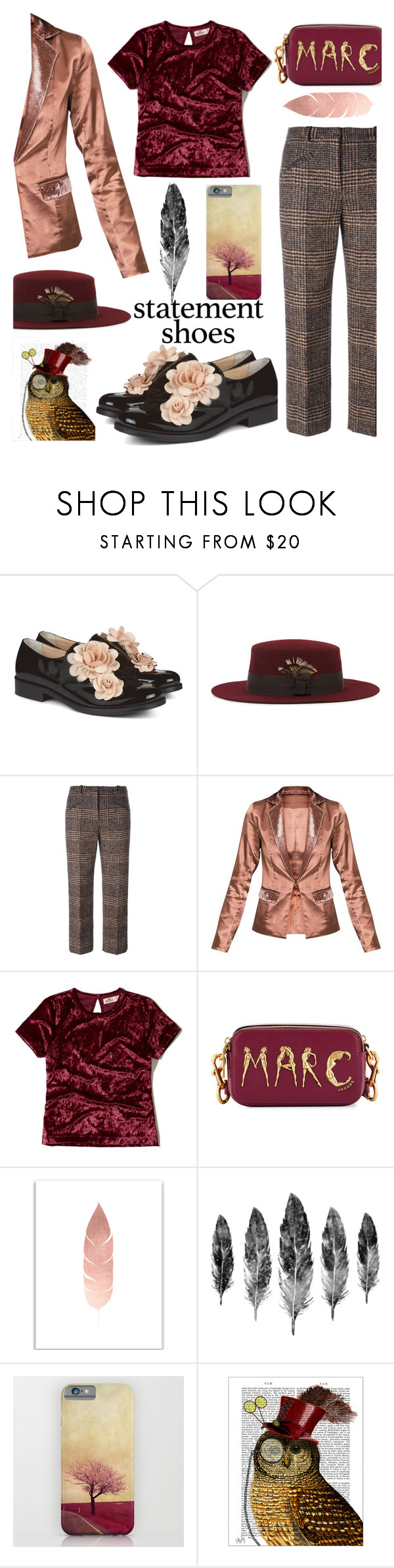 """""""Statement Shoes"""" by bysc ❤ liked on Polyvore featuring Pokemaoke, Christys', Sonia Rykiel, Hollister Co., Marc Jacobs and FabFunky"""