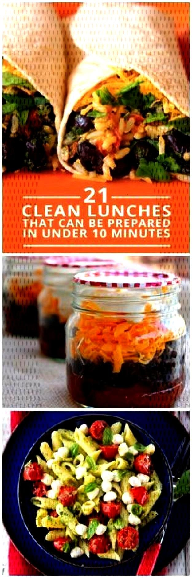 Clean Lunches Prepared in Under 10 Minutes - eat clean all day long!21 Clean Lunches Prepared in Un
