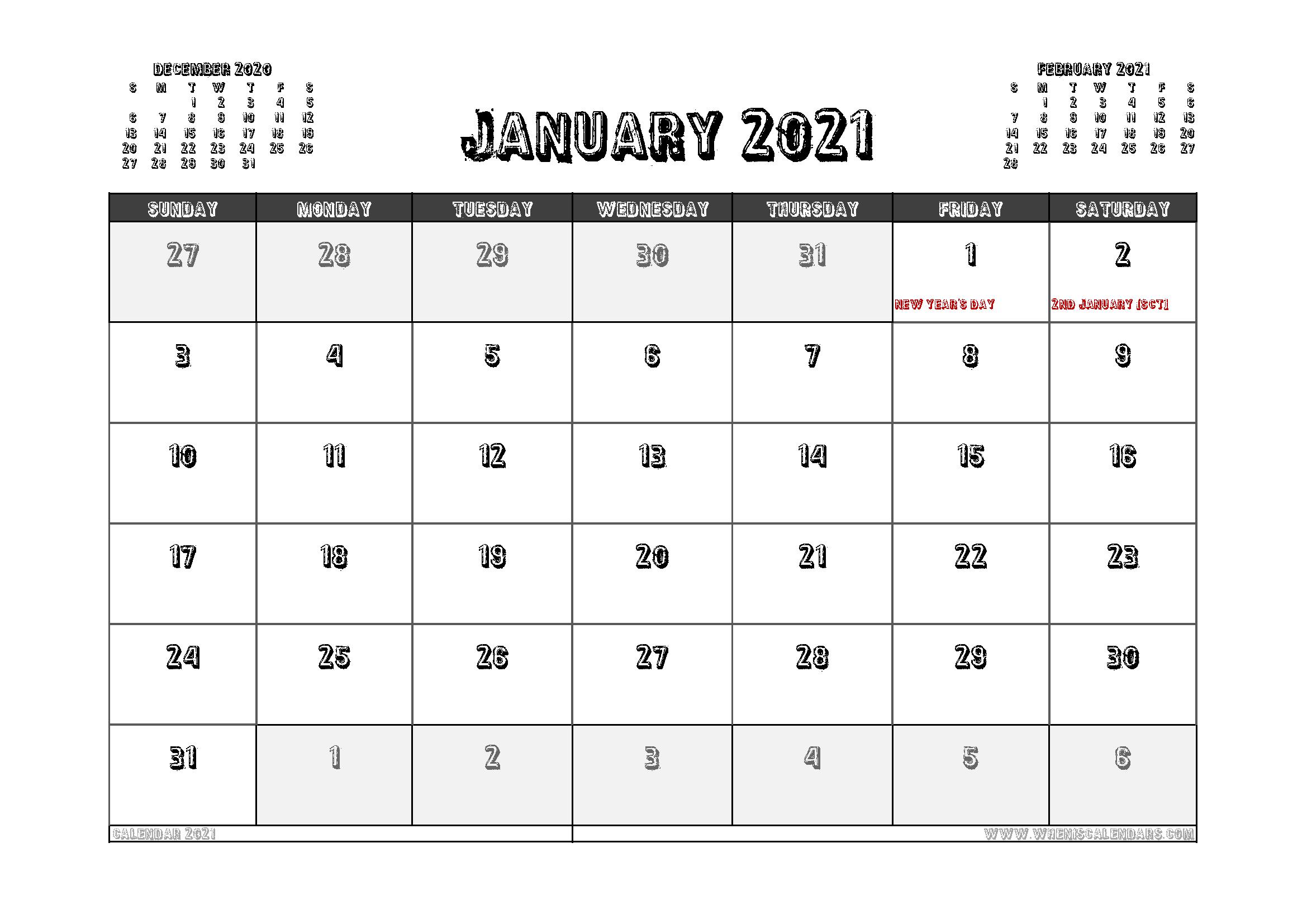 Free Printable January 2021 Calendar Uk In 2020 Calendar Australia Calendar Printables Calendar Uk