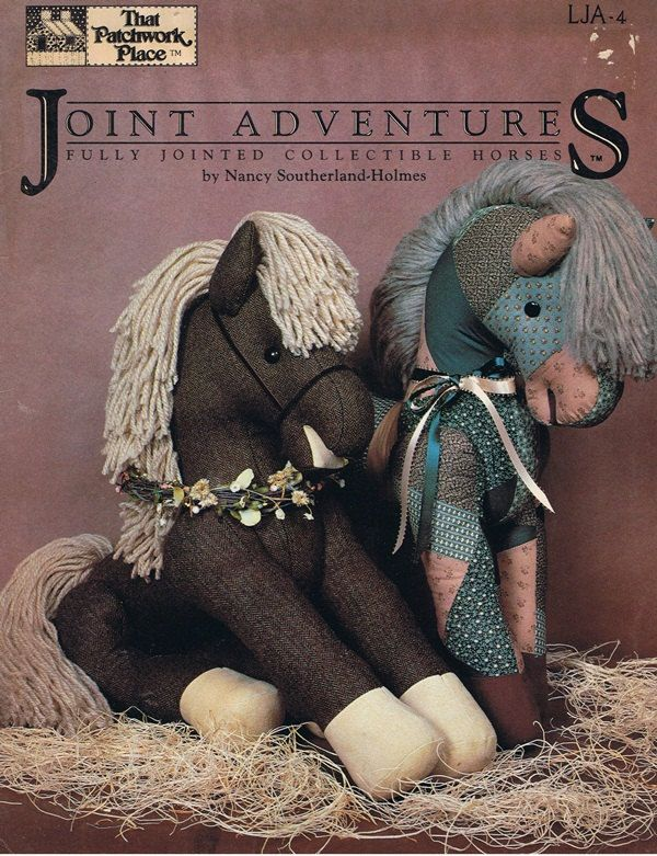 Jointed Horses Stuffed Animal Craft Pattern Leaflet | Crafts ...