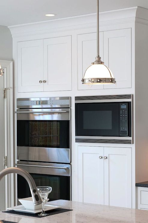 Built In Double Ovens Microwave White Kitchen