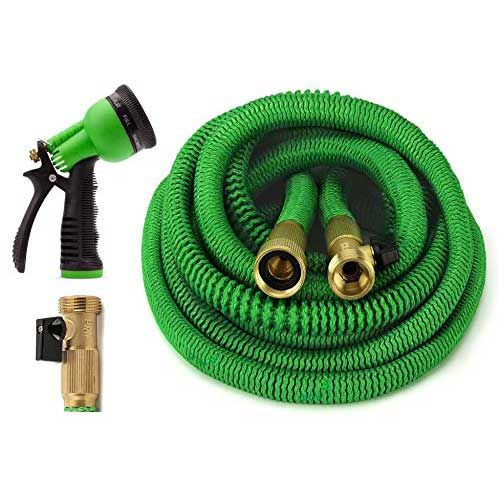 BEST RETRACTABLE GARDEN HOSE: ALL NEW 2017 Expandable Garden Hose 75 Feet  With 8 Spray Pattern Nozzle. Strongest Expanding Garden Hose On The Market  With ...