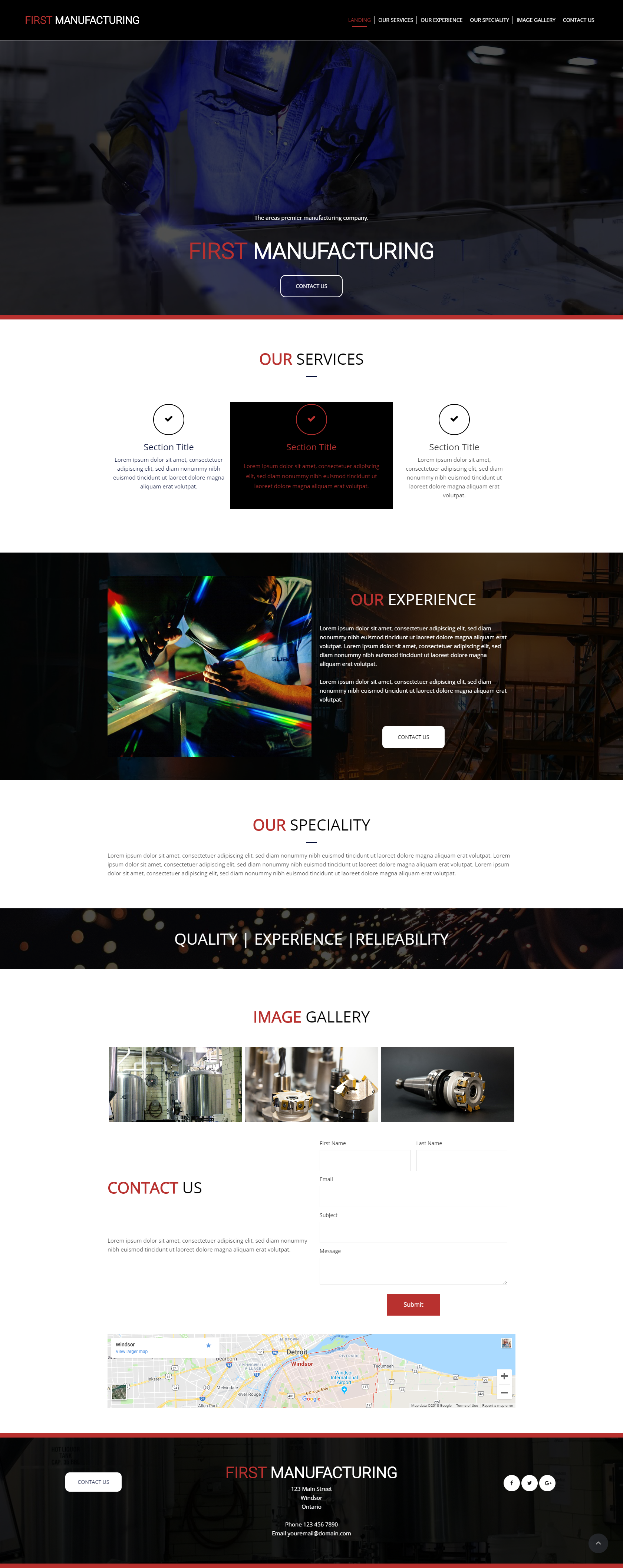 Manufacturing Company Website Use This Template For Free At Webzooler Com Website Template Design Small Business Online Web Template Design