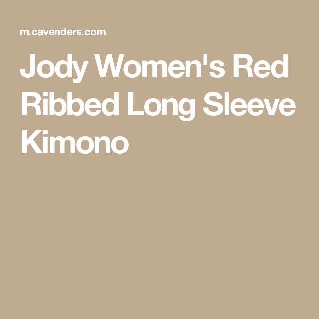 Jody Women's Red Ribbed Long Sleeve Kimono