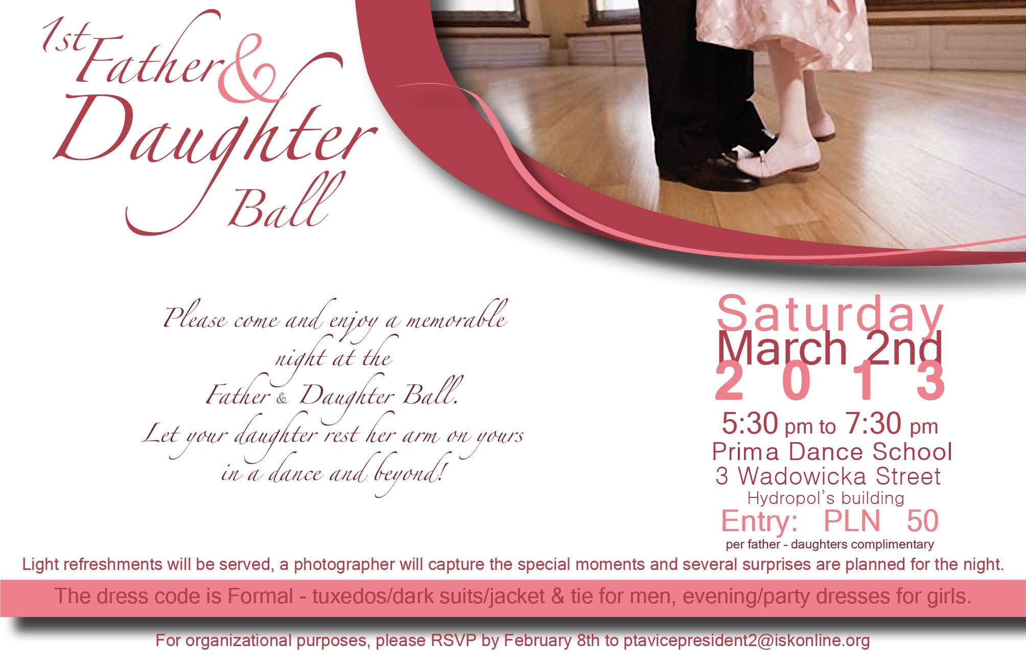 father daughter dance invite Google Search Party ideas Pinterest