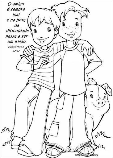 20 De Julho Dia Do Amigo Com Imagens Paginas Para Colorir
