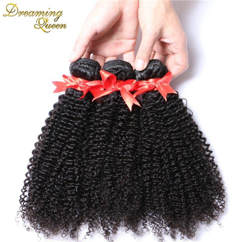 7a 학년 곱슬 곱슬 처녀 머리 브라질 인간의 머리 확장 3 개 아프리카 곱슬 곱슬 100% 처녀 인간의 로사 헤어 제품