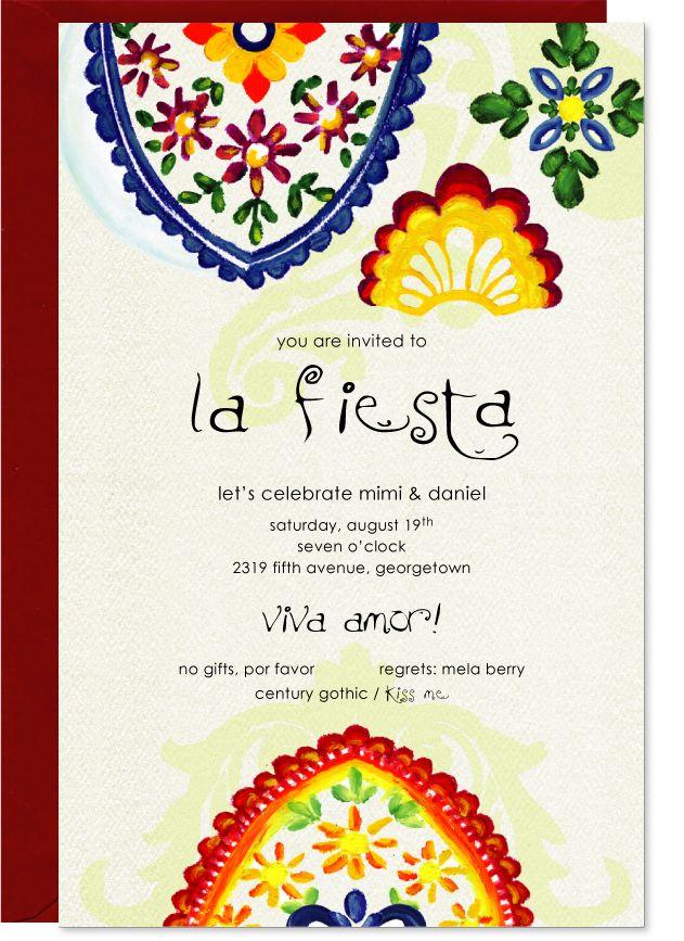 Fancy Fiesta Invitation, Red Envelopes | Stationary | Pinterest ...
