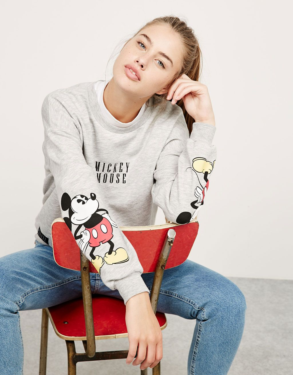 ce70015d7b BSK Mickey sweatshirt. Discover this and many more items in Bershka with  new…