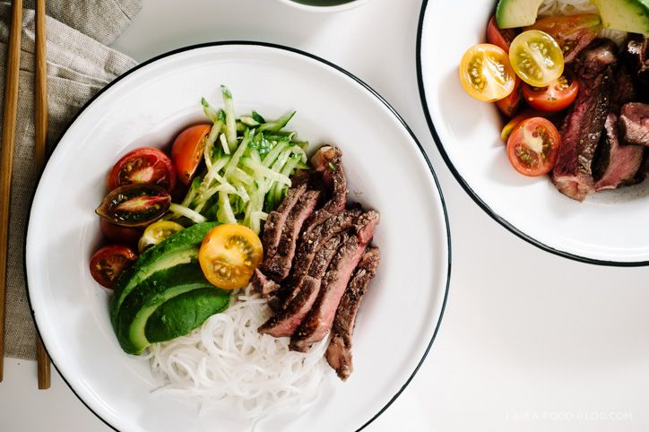 vietnamese steak and vermicelli bowl recipe - www.iamafoodblog.com