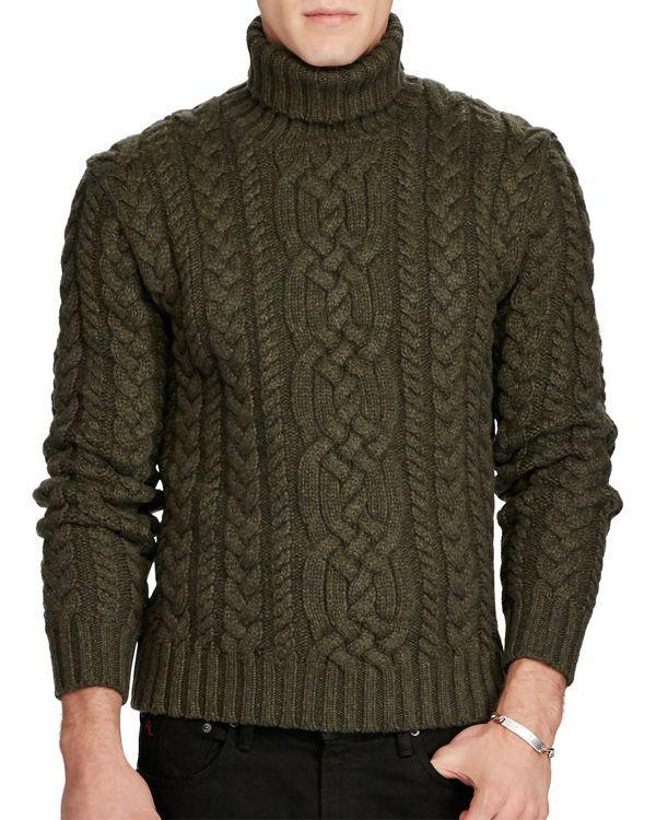 2e3e42c40ace5 Polo Ralph Lauren Wool-Cashmere Cable Knit Turtleneck Sweater