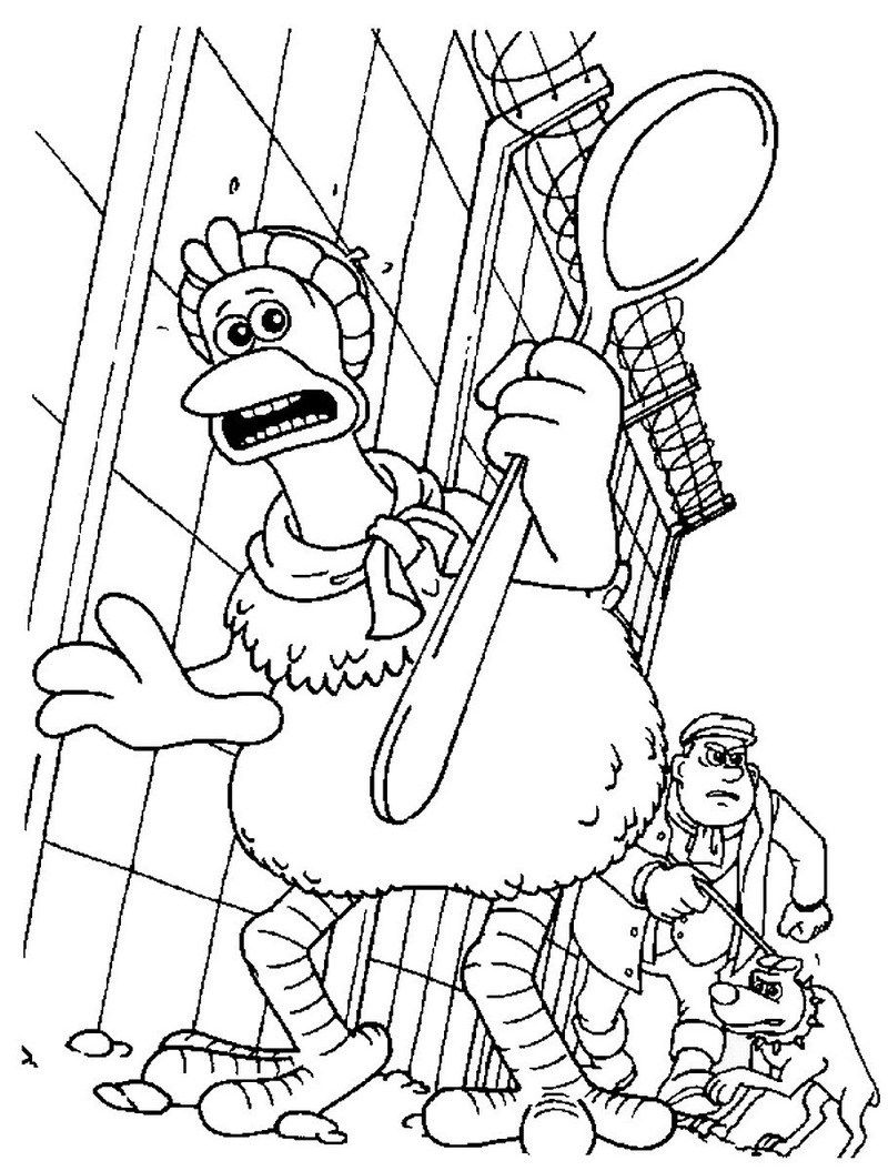 Printable Chicken Run Coloring Pages | animation series coloring and ...