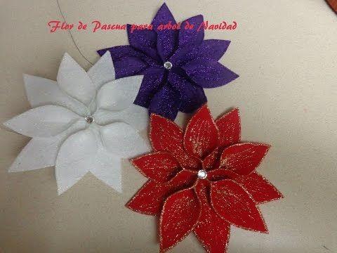 Manualidades para navidad flor de pascua para decorar el arbol de navidad youtube ideas - Manualidades para decorar el arbol de navidad ...