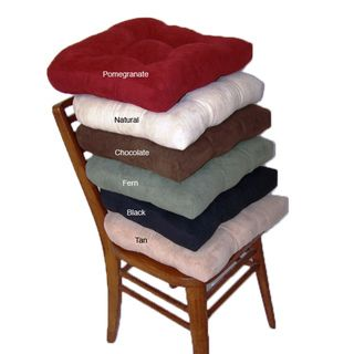 Faux Suede Chamois Hugger Non Slip Seat Cushion Set Of 4