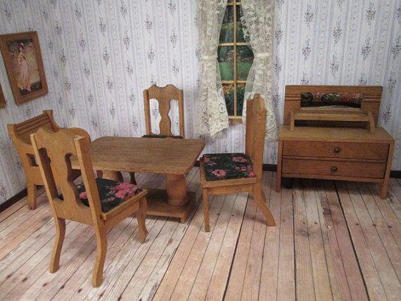 Vintage Furniture For Dollhouse
