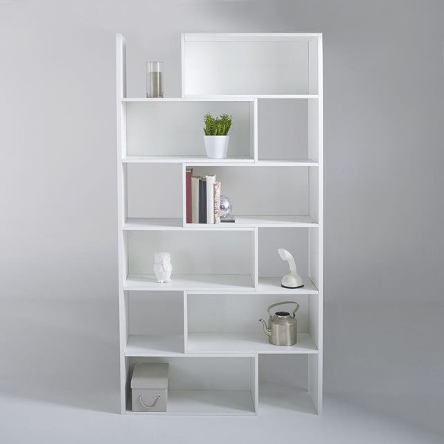 Bibliotheque Extensible Hauteur 2 Metres Everett White Shelving Unit Backless Shelves Slim Bookcase