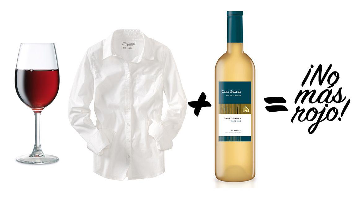 Las Manchas De Vino Son Difícil De Tratar Por Lo Que Necesitas Ayuda De Su Vino Competencia Vino Blanco Remoja La Mancha En El Vin Clean House Tips Cleaning