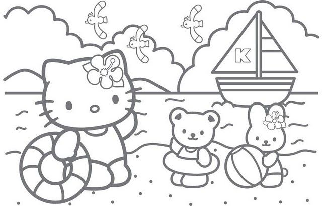 Coloring Pages September 2011 Hello Kitty Colouring Pages Hello Kitty Drawing Hello Kitty Coloring