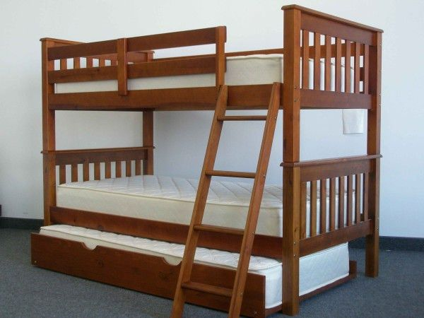 Best Bunk Bed Twin Over Twin End Ladder Expresso Trundle 400 x 300