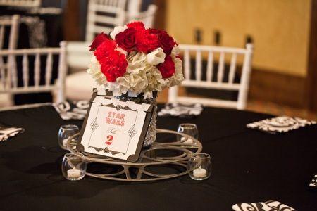 Wondrous Film Wedding Red White Centerpiece Love Wedding Interior Design Ideas Truasarkarijobsexamcom