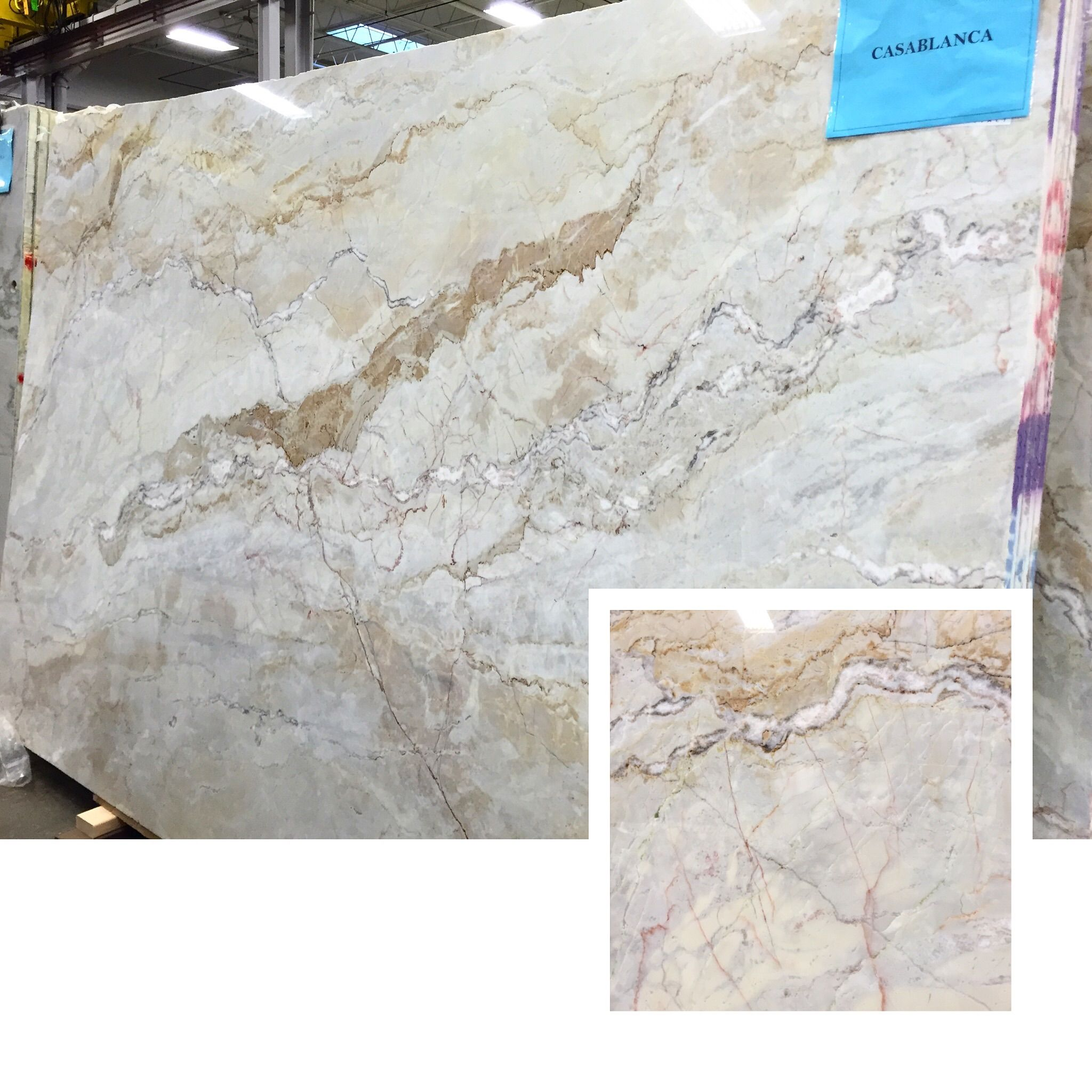 One Of Our Brand New Slabs Casablanca Quartzite