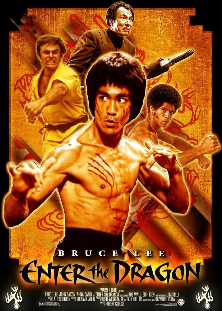 Bruce Lee Enter The Dragon Movie Poster Bruce Lee Movies Bruce