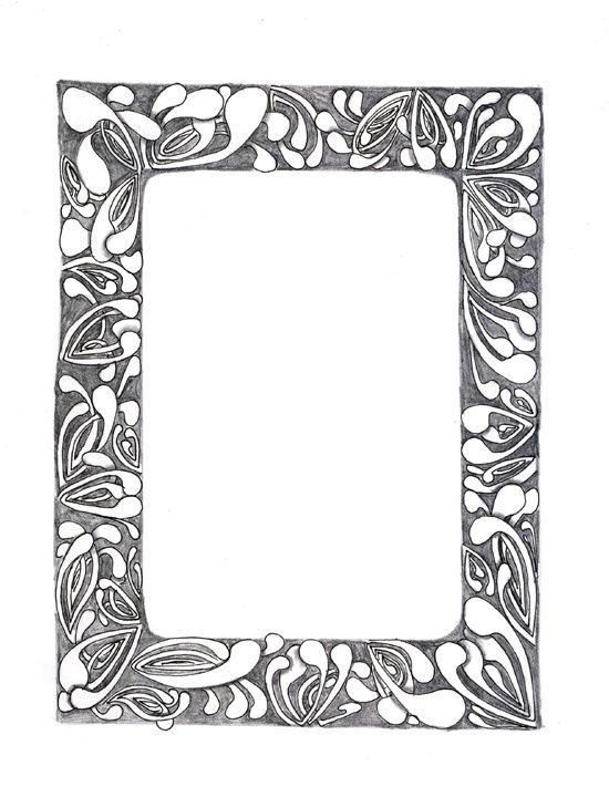 Image Result For Zentangle Borders And Frames Zen Design