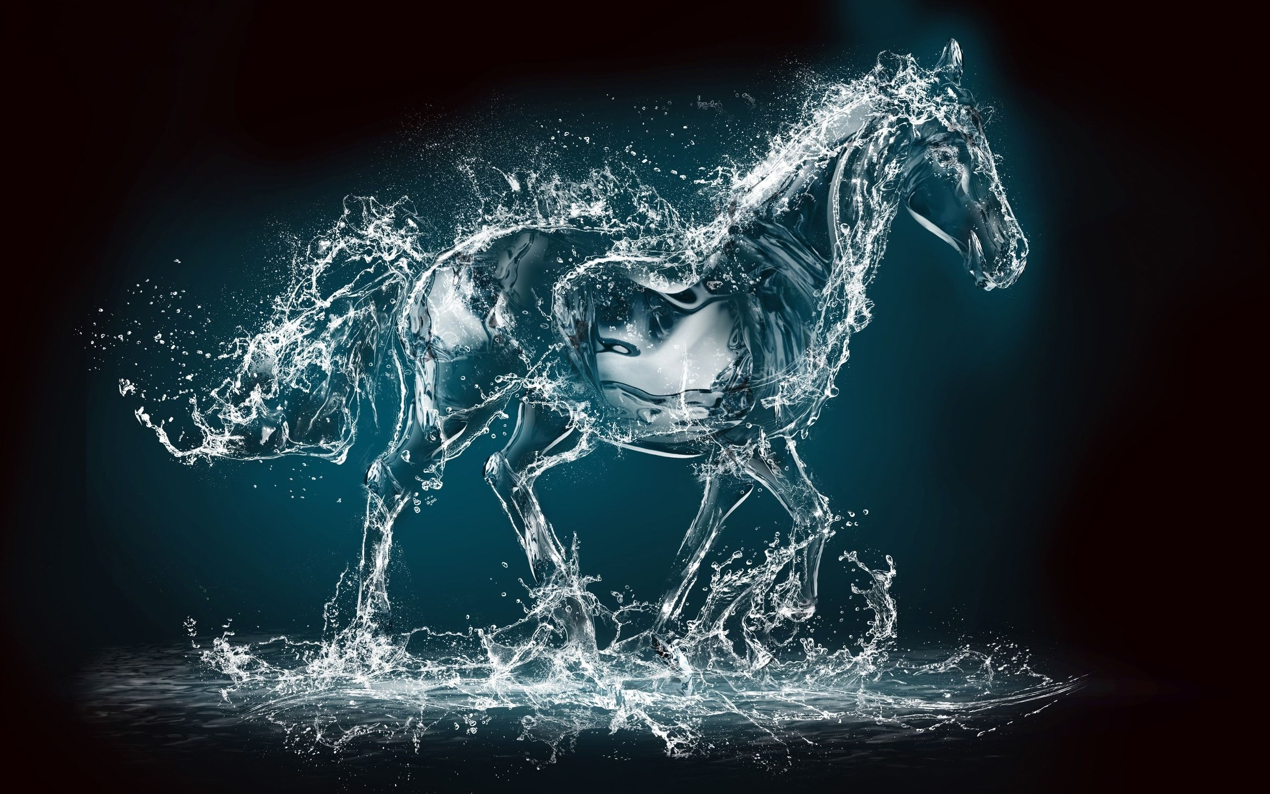 Water Horse Digital Art   Water Horse Digital Art is an HD desktop wallpaper posted in our free image collection of awesome wallpapers. You can download Water Horse Digital Art...