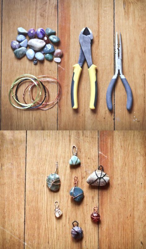 Photo of DIY stone pendants – handicrafts with stones – handicrafts – #handicrafts #DIY … -…