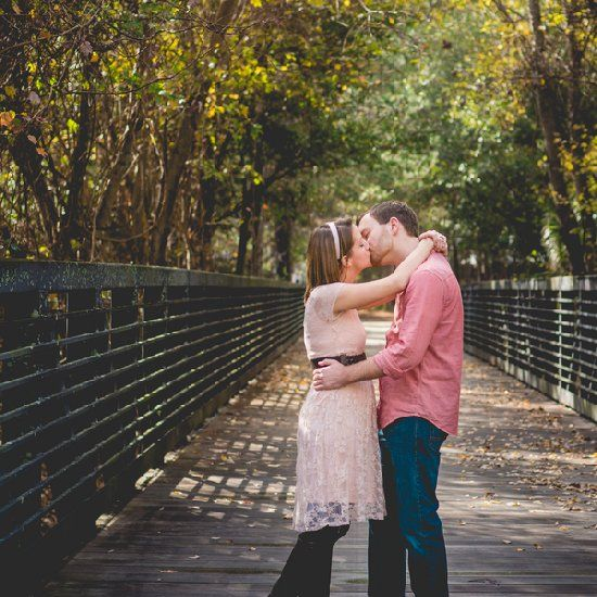 Such a sweet garden engagement session by Ashfall Mix Media!