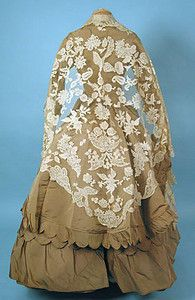 Handmade Lace Shawl, Early 18th C