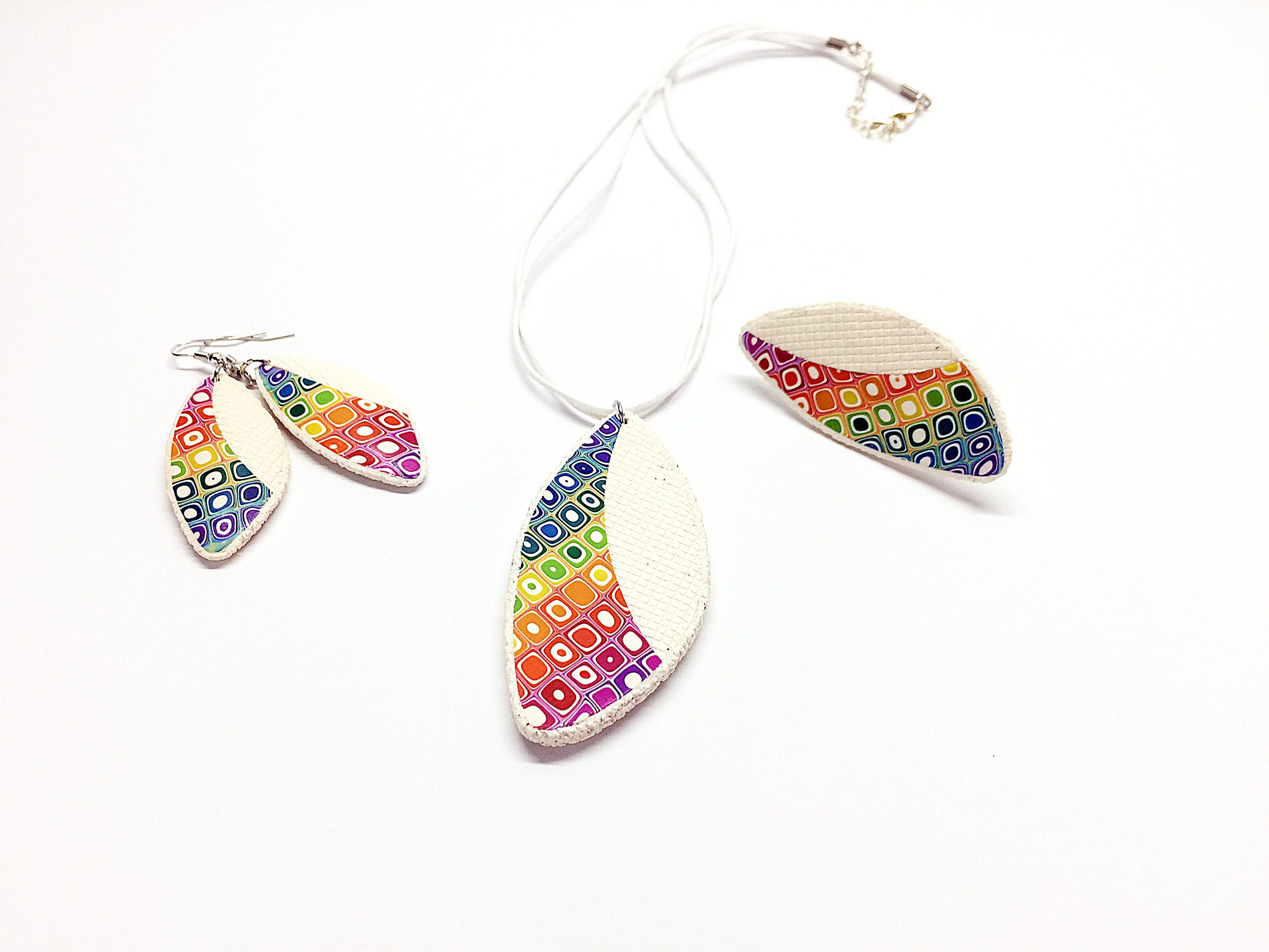 earrings retro handmade rainbow kitsch gradient tinsel statement resin glitter pastel store