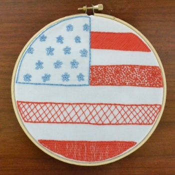 Here\'s to the Red White and Blue Embroidery Pattern | Supply ...