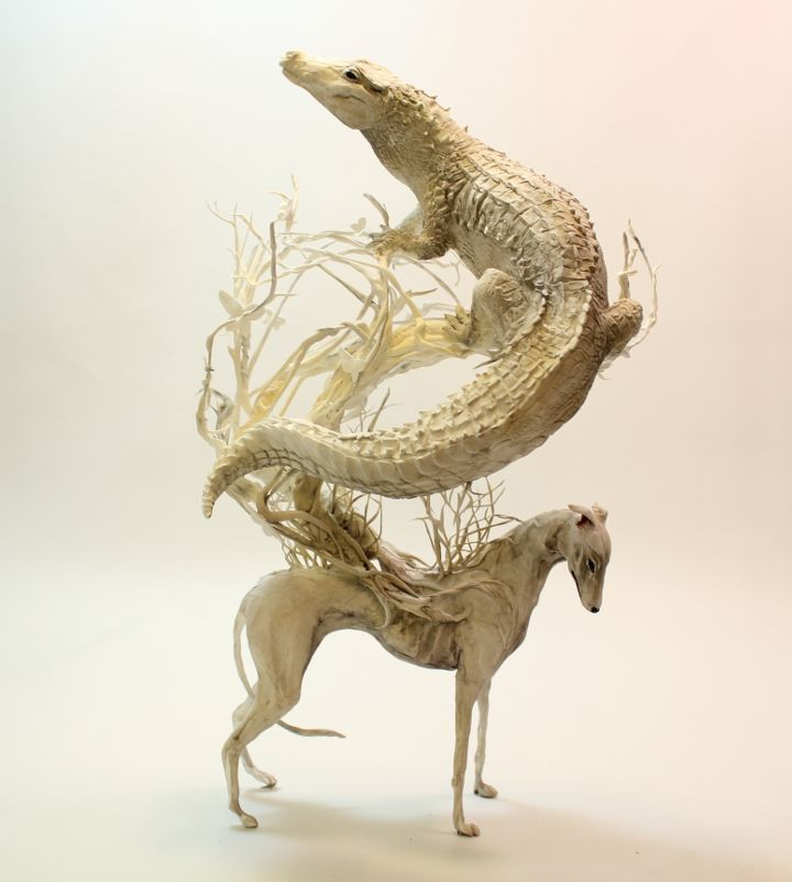 Sculpture Of Ellen Jewett About Biological Narratives Emotions - Surreal animal plant sculptures ellen jewett