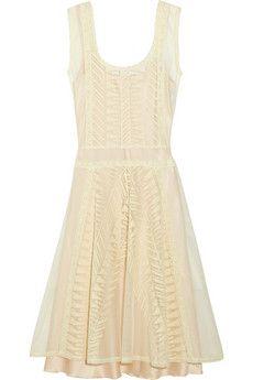 Philosophy Di Alberta Ferretti White Cream Lace And Cotton Tulle Dress Link Has More Beautifully Dresses