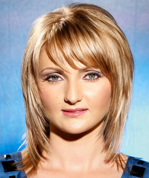 Long Straight Casual Hairstyle With Side Swept Bangs